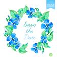 watercolor floral wreaths vector image vector image