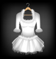 white dress vector image vector image