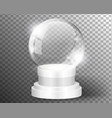 white snow globe clear template isolated on vector image vector image