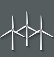 wind turbine symbol vector image