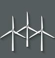 wind turbine symbol vector image vector image