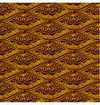 Yellow scales repeating pattern on brown backgroun vector image vector image