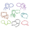 Speech and communication icons vector image