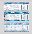 Airline boarding pass tickets template vector image