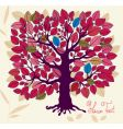 autumn tree with foliage vector image vector image