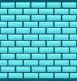 blue azure brick texture background vector image vector image