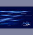 blue background with linear glowing lines design vector image vector image