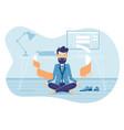 businessman in working balance zen vector image