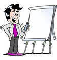 cartoon of a happy business man standing and vector image vector image