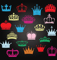 Chalkboard Crown SilhouettePrincess Crown vector image