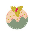 christmas ornament vintage felt decoration ball vector image vector image