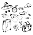 collection accessories for holidays vector image