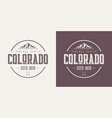 colorado state textured vintage t-shirt and vector image vector image