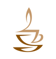 Cup Of Hot Coffee With Milk vector image vector image