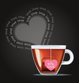 cup of tea with tea bag vector image vector image