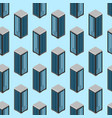 Data center seamless pattern background isometric