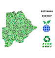 eco green collage botswana map vector image vector image