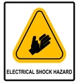 Electrical Shock Hazard symbol vector image