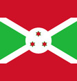 flag in colors of burundi image vector image