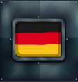 flag of germany on metalic frame vector image vector image