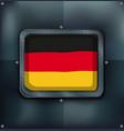 Flag of germany on metalic frame