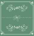 floral decorative ornament and frame vector image vector image