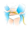 Girl measuring her waist vector image
