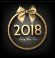 golden 2018 happy new year card vector image vector image