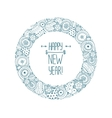 Happpy new year frame vector image