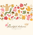 happy autumn seamless background vector image vector image