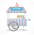 Ice Cream Cart Market Card vector image