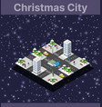 isometric city with roads with streets vector image vector image