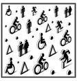 Isometric traffic icons vector image vector image
