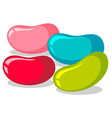 Jelly beans in four colors vector image