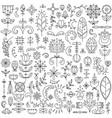 line set of 90 scandinavian elements vector image