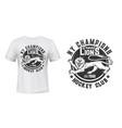 lion print t-shirt mockup hockey club team emblem vector image vector image