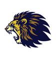lion roaring logo esport mascot design vector image vector image