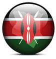 Map on flag button of Kenya vector image vector image
