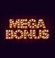 mega bonus banner casino vintage golden vector image vector image