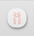 nervous tension app icon vector image vector image