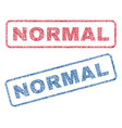 normal textile stamps vector image vector image