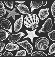 oysters seamless pattern hand drawn seafood vector image vector image