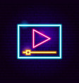 player neon sign vector image vector image
