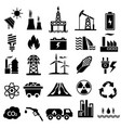power and energy icon set vector image vector image
