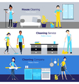 Professional Cleaning Horizontal Banners vector image vector image