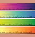 raleigh multiple color gradient skyline banner vector image vector image