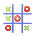 realistic plastic multi colored toy tic tac toe vector image vector image