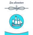 sea adventure banner color vector image