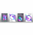 set for liquid holographic abstract backgrounds vector image