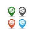set halal logo design on map pin halal food vector image vector image